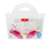 NUK Classic Happy Days Silicone Soothers Size 2 Girls