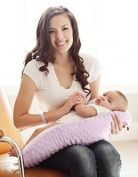 Nursing Pillow Lilac Breastfeeding Maternity Twin Support Pillow