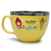 Lock & Lock Hello Bebe Storytelling Educational Design Baby Feeding Stainless Steel Soup Mug