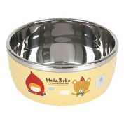 Lock & Lock Hello Bebe Storytelling Educational Design Baby Feeding Stainless Steel Bowl, Small