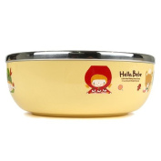 Lock & Lock Hello Bebe Storytelling Educational Design Baby Feeding Stainless Steel Bowl, Big