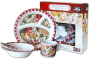 Wild Wings Children's 5-Piece Melamine Tableware Set Featuring Dalmatians