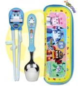 Robocar Poli Spoon+Chopstick Trainer+Case Set