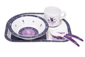 Lassig Children's Dish Set Melamine Deer Viola