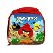 "licenced ROVIO ANGRY BIRDS INSULATED LUNCH BAG BLUE SKY 5 BIRDS ""SQUARE"""