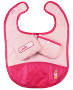 Wallabib Pocket Bib for the Baby on the Go - Mess Free Travel Pouch