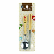 Lock & Lock Hello Bebe Storytelling Educational Design Baby Feeding Stainless Steel Spoon and Chopsticks Set