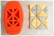 FunBites Set of Three - Green Squares, Red Hearts & Orange Triangles - Cuts kids' food into fun-shaped bite-sized pieces . . . Great for picky eaters and bento!