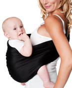 Hotslings Adjustable Pouch Baby Sling, Black, Large