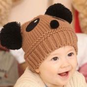 ECOSCO Baby Infant Boy Girl Knit Beanie Pom Pom Panda Hat Cap Ear Warm