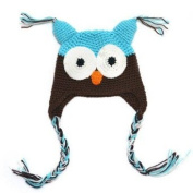 ECOSCO Baby Infant Boy Girl Knit Beanie Crochet Hoot Owl Hat Cap Ear Flap Warm