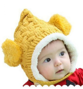 ECOSCO Baby Infant Boy Girl Knit Crochet Rib Pom Pom Winter Hat Cap Hood Warm