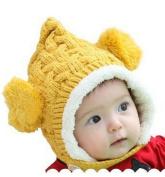 ECOSCO Baby Infant Boy Girl Knit Crochet Rib Pom Pom Winter Hat Cap Hood Warm