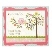 C.R. Gibson Baby's First Year Calendar - Happi Baby Girl