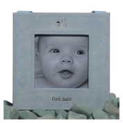 Blue First Bath Picture Frame