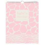 Pepper Pot Baby's First Year Keepsake Calendar, Giraffe Girl