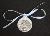 Pewter Baby Boy Crib Medal