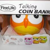 Fine Life Talking Owl Piggy Bank Coin Bank