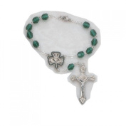 7mm Irish Auto Rosary Carded