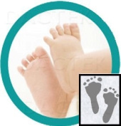 Baby-Safe Inkless Footprint Kit with Colour Papers