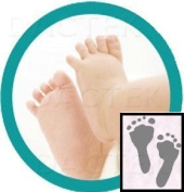 """Deluxe"" Baby Inkless Footprint Kit with Colour Papers"