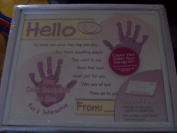 Child Handprint Memories Kit and Frame