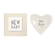 East of India New Baby Heart Decorative Dish in Gift Box, Porcelain