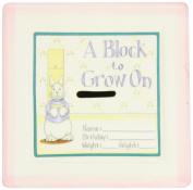 Child to Cherish 15cm ''A Block To Grow On'' - Baby's First Milestones Ceramic Bank