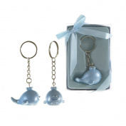 Lunaura Baby Keepsake - Set of 12 Baby Blue Whale Key Chain