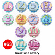 SWEET savoury Baby Month Onesie Stickers Baby Shower Gift Photo Shower Stickers, baby shower gift by OnesieStickers