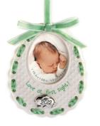 Baby Bib Frame 2012 Carlton Heirloom Ornament