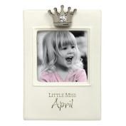 """Little Miss Princess"" Birthstone Keepsake Frames"