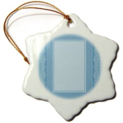 Jaclinart Stripes Fashion Ribbon - Baby blue striped and damask ribbon frame - Ornaments