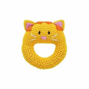 Hand Crocheted Cat Ring Rattle by Dandelion - 51012
