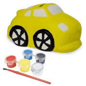 Sassafras / Fun to Paint Ceramic Coin Bank, Car