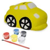 Sassafras / Fun to Paint Ceramic Coin Bank, Car