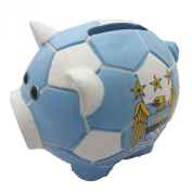 Manchester City F.C. Manchester City Football Club Small Ceramic Piggy Bank