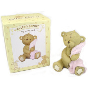 Baby Christening Gifts. Money Box Teddy Bear With Girls Pink Blanket