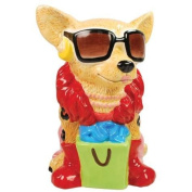 21cm Tan Chihuahua Super Shopper Painted Ceramic Piggy Bank