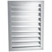 L L BUILDING PRODUCTS DA1218W DA-SERIES aluminium DUAL louvre, WHITE, 30cm X 46cm