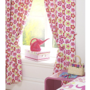 NELLIE ELEPHANT FLOWERS GIRLS FULLY LINED CURTAINS SET 168cm X 183cm MATCHES DUVET