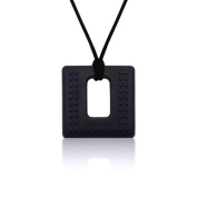 Siliconies Square Pendant (Teething/Nursing/Sensory) - Black