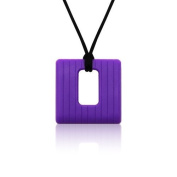 Siliconies Square Pendant (Teething/Nursing/Sensory) - Plum Purple