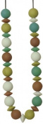 Teethease Medley Teething Necklace, Green