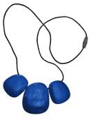 Jellystone Designs Troika Pendant Teether Necklace - Metallic Blueprint