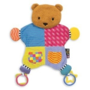 Baby / Child Kids Preferred Amazing Baby Coloured Blanket Teether Bear With Textured Teethers On Teddys Hands Infant