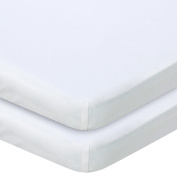 . Knit Bassinet Sheet 2 Pack - White