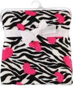 "Baby Starters ""Love Zebras"" Plush Blanket"