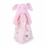 Bunnies By The Bay Peanut Buddy Blanket, Pink Polka Dot