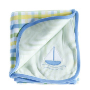 Anna Claire Beautiful Designed Baby Receiving Blanket, Double Sided Designs, Swaddle Blankets
